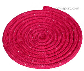GOKISPORT Cotton Ropes made with SWAROVSKI CRYSTALS, - Fuchsia, Style: GS089