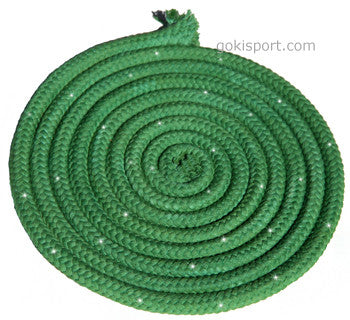 GOKISPORT Cotton Ropes made with SWAROVSKI CRYSTALS, - Green, Style: GS095