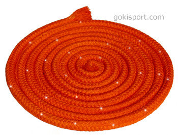GOKISPORT Cotton Ropes made with SWAROVSKI CRYSTALS, - Orange, Style: GS092