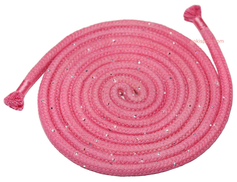 GOKISPORT Cotton Ropes made with SWAROVSKI CRYSTALS, - Pink, Style: GS088