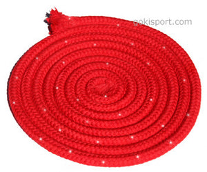 GOKISPORT Cotton Ropes made with SWAROVSKI CRYSTALS, - Red, Style: GS093