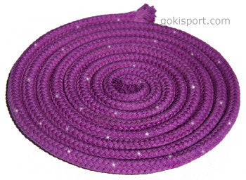 GOKISPORT Cotton Ropes made with SWAROVSKI CRYSTALS, - Violet, Style: GS090