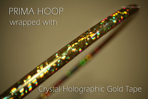 PRIMA HOOP wrapped with 1-color Crystal Gold tape, Style: GS393CG