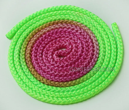 GOKISPORT Nylon Elite Gradient Collection, Fluo Green-Olive-Fluo Pink, Style: GS040
