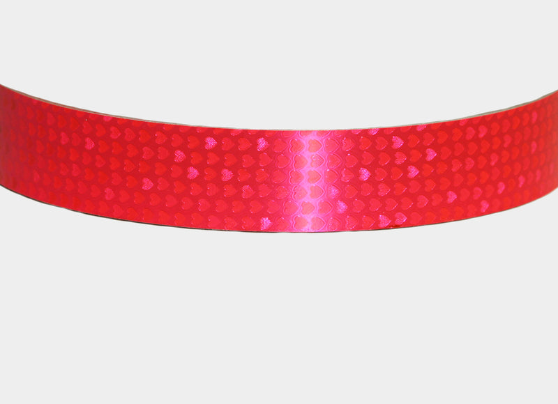 PRIMA HOOP wrapped with 1-color Shimmer Pattern Fluo Pink Hearts tape, Style: GS313SPFPH