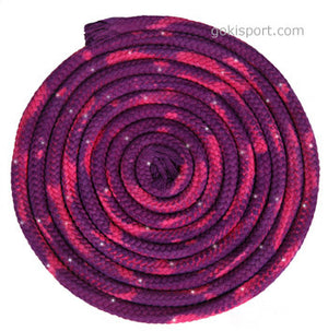 GOKISPORT Cotton Multicolor Ropes made with SWAROVSKI CRYSTALS, Pink-Lilac, Style: GS339