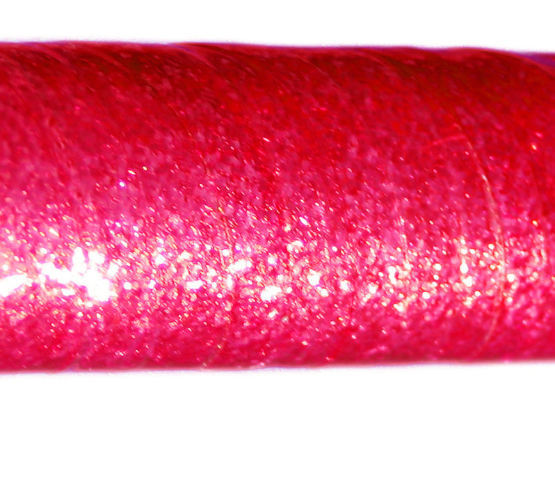 PRIMA HOOP wrapped with 1-color Glitter Fluo Pink tape, Style: GS311GFP