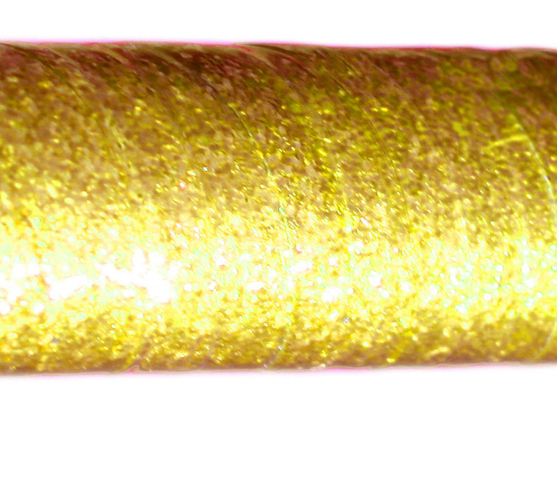 PRIMA HOOP wrapped with 1-color Glitter Fluo Yellow tape, Style: GS311GFY