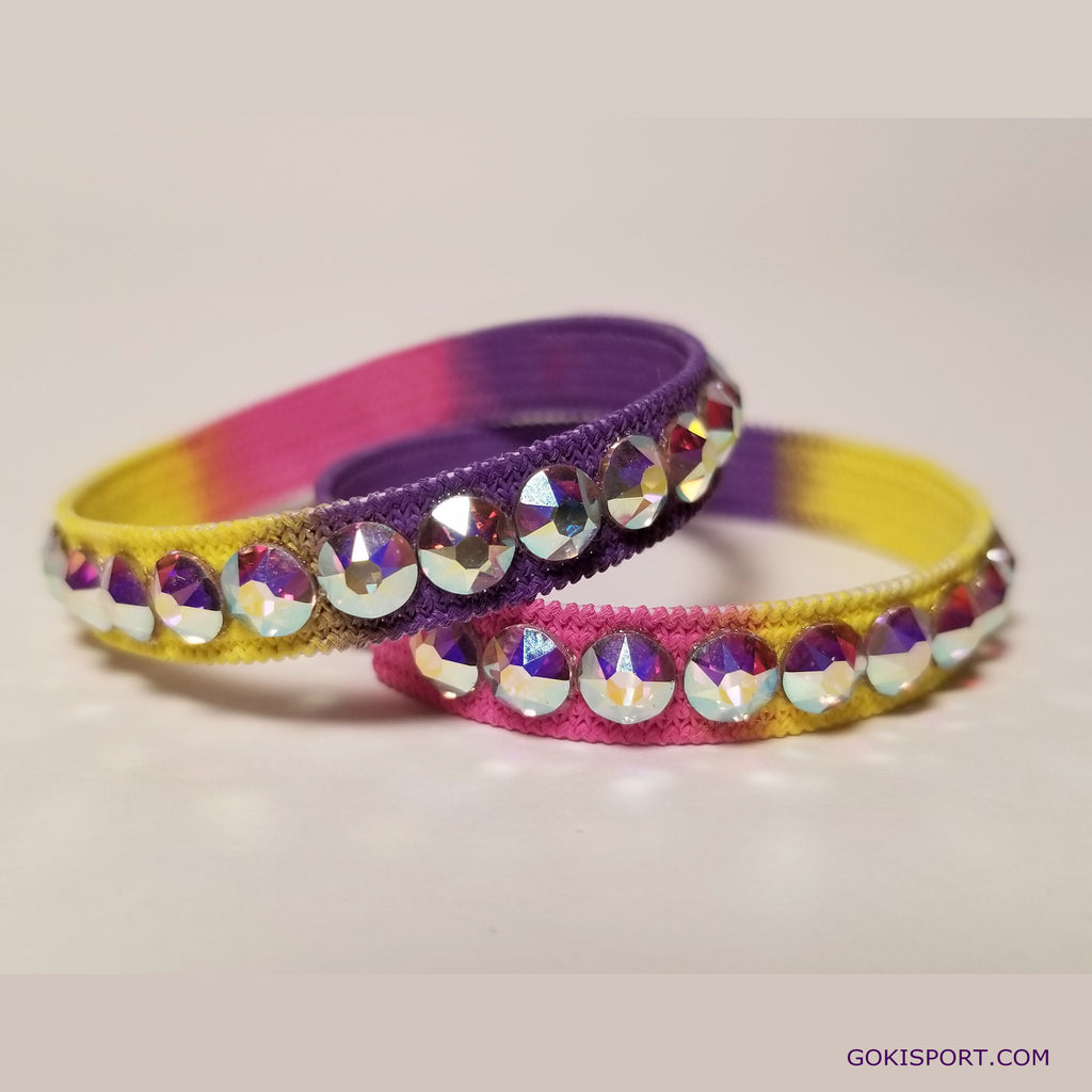 Club Crystals, Yellow-Pink-Violet made with Swarovski Crystal AB, Style: GS445