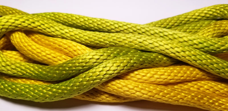 GOKISPORT Nylon Glamour Gradient Rope, Fluo Green - Fluo Yellow, Style: GS086
