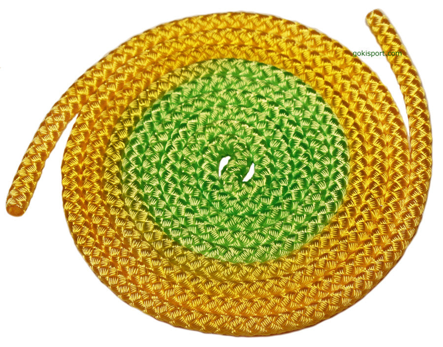 GOKISPORT Nylon Elite Gradient Collection, Fluo Yellow-Fluo Green, Style: GS083
