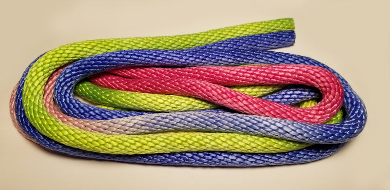 GOKISPORT Nylon Glamour Gradient Rope, Fluo Green-Pink -Blue, Style: GS029