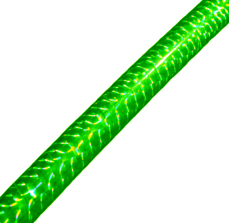 PRIMA HOOP wrapped with 1-color Prismatic Fluo Green tape, Style: GS314PFG