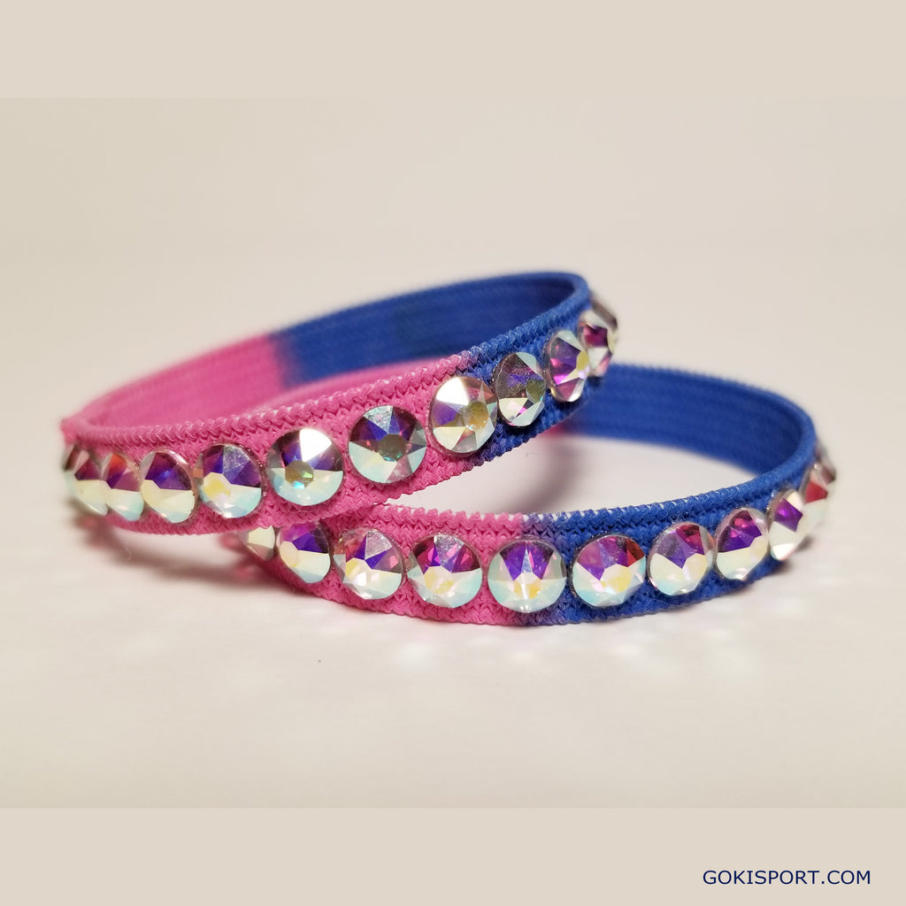 Club Crystals, Pink-Blue made with Swarovski Crystal AB, Style: GS446