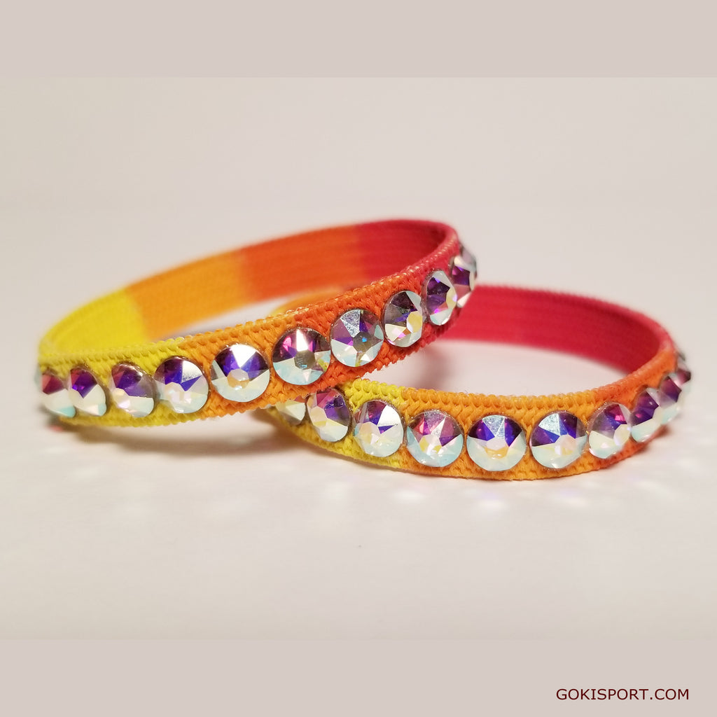 Club Crystals, Yellow-Orange-Red made with Swarovski Crystal AB, Style: GS444