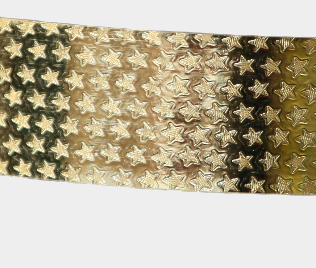 PRIMA HOOP wrapped with 1-color Shimmer Pattern Gold Stars tape, Style: GS313SPGS