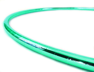 PRIMA HOOP wrapped with 1-color Mirror Turquoise tape, Style: GS312MT