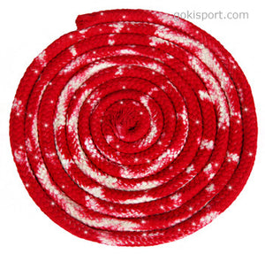 GOKISPORT Cotton Multicolor Ropes made with SWAROVSKI CRYSTALS, Red-White, Style: GS344