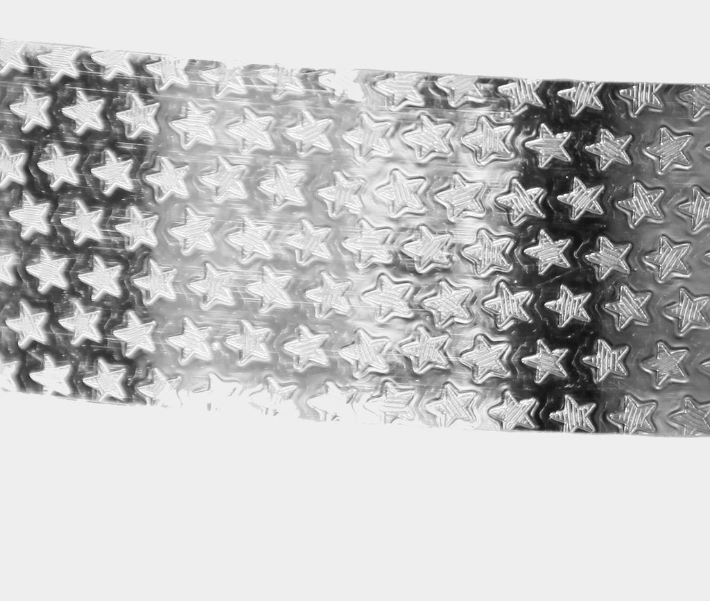 PRIMA HOOP wrapped with 1-color Shimmer Pattern Silver Stars tape, Style: GS313SPSS