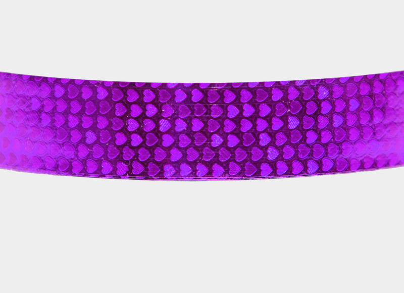 PRIMA HOOP wrapped with 1-color Shimmer Pattern Violet Hearts tape, Style: GS313SPVH
