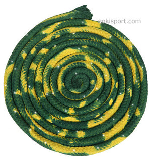 GOKISPORT Cotton Multicolor Ropes made with SWAROVSKI CRYSTALS, Yellow-Green, Style: GS349