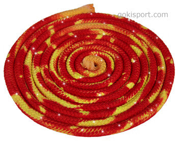 GOKISPORT Cotton Multicolor Ropes made with SWAROVSKI CRYSTALS, Yellow-Red, Style: GS347