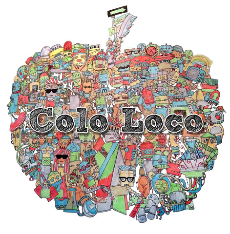 COLO LOCO - Geeky coloring book-PRESELL