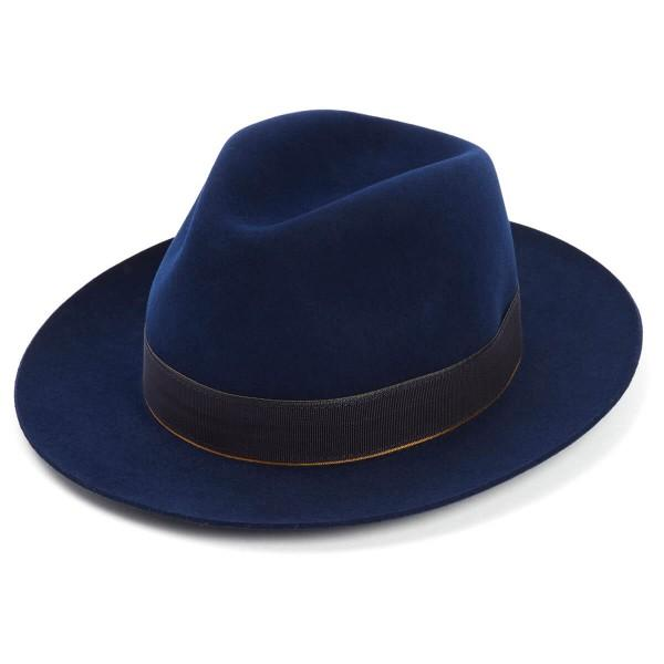 c9ed3e43f0de4 This exciting new introduction to our seasonal fur felt range comes in the  striking Ink blue. The Bowie