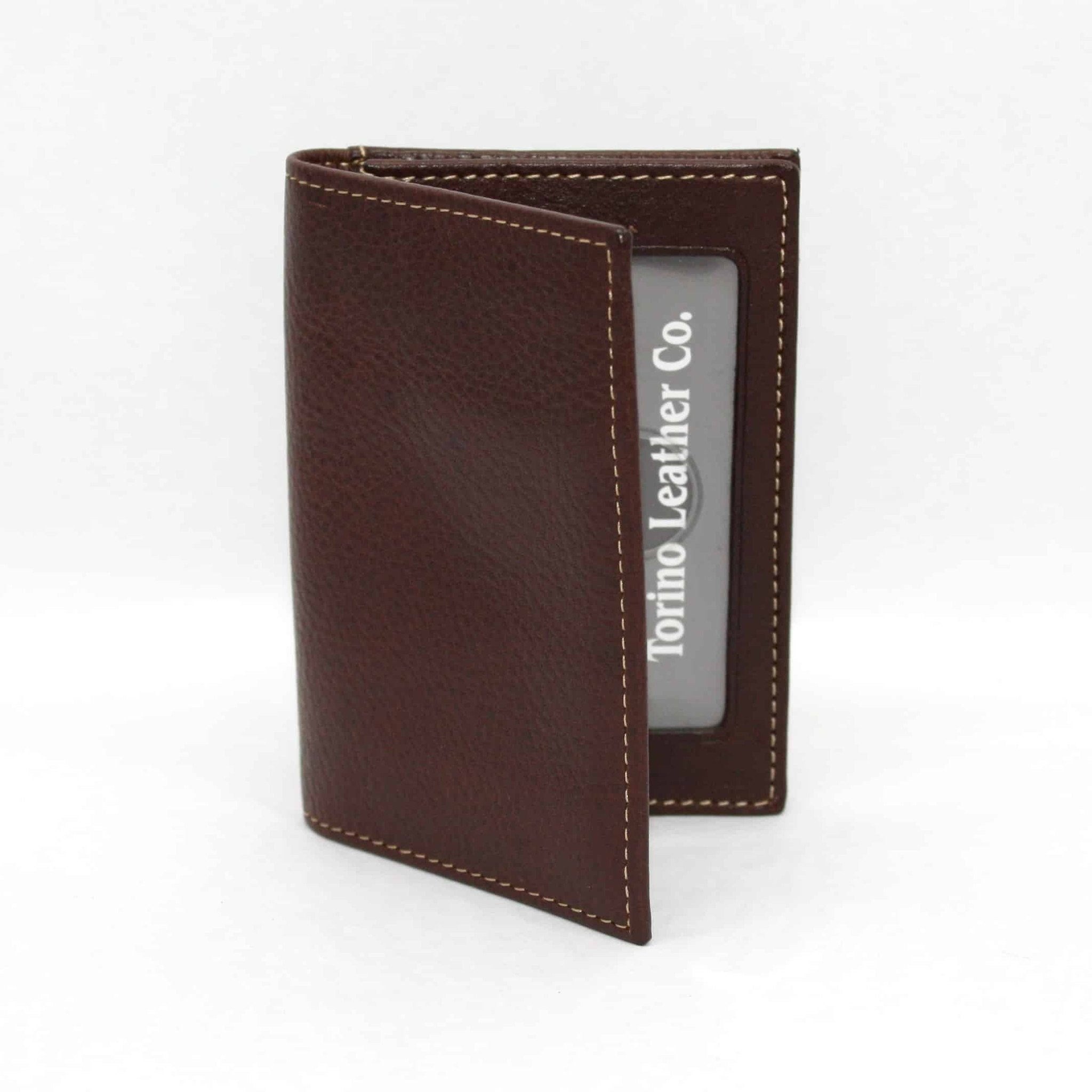 Tumbled Glove Leather Gusseted Card Case - Brown,WALLETS,GentRow.com, | GentRow.com