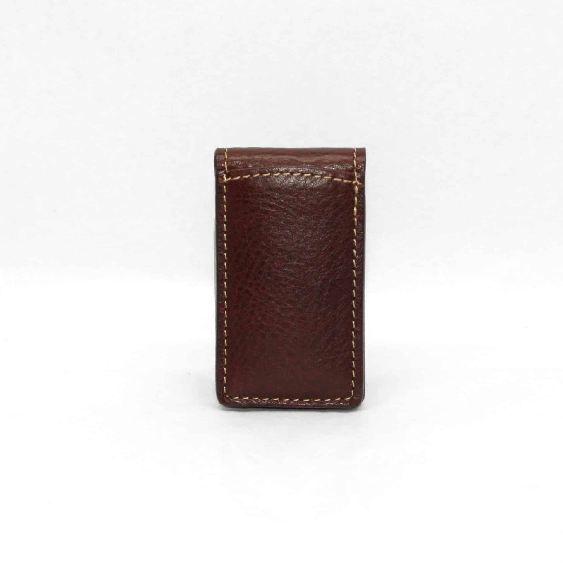Tumbled Glove Magnetic Money Clip - Brown,WALLETS,GentRow.com, | GentRow.com
