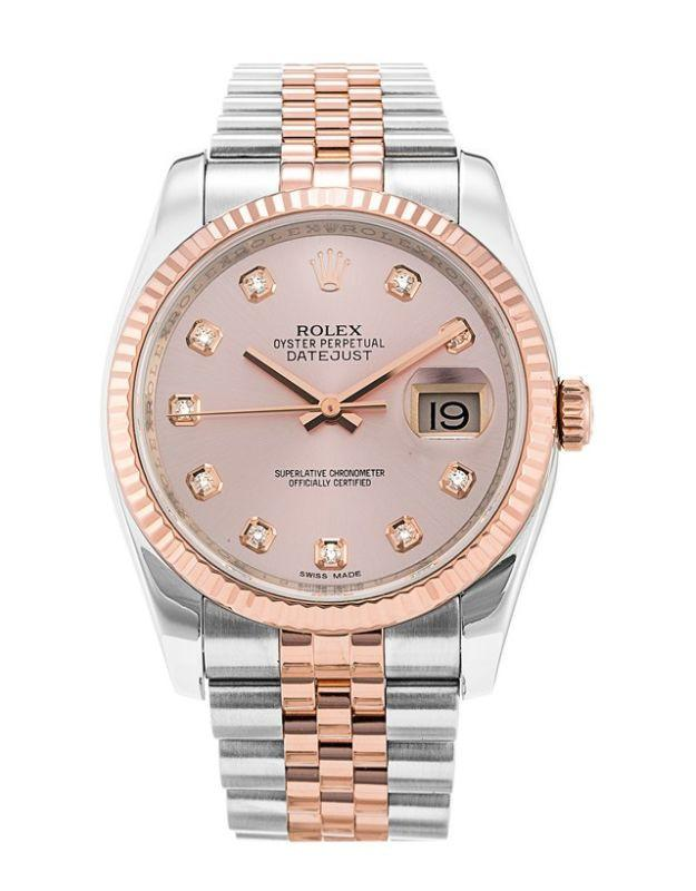 Rolex Datejust 36 Steel & Everose Gold Pink Diamond Dial Jubilee Bracelet Men