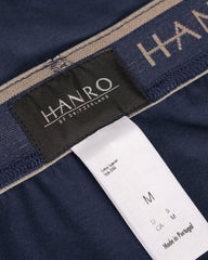 HANRO Cotton Superior Trunk Midnight Navy,Underwear,HANRO, | GentRow.com