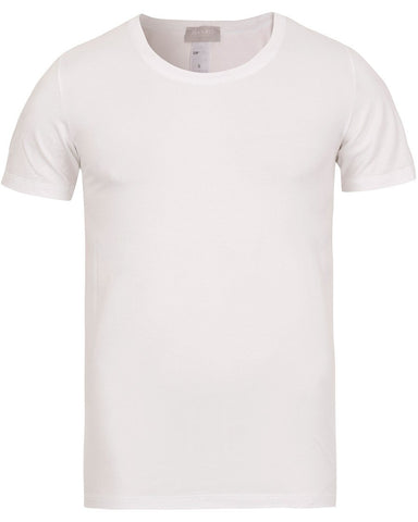 HANRO Cotton Superior C-Neck T-Shirt White
