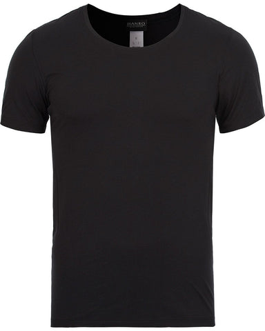 HANRO Cotton Superior C-Neck T-Shirt Black