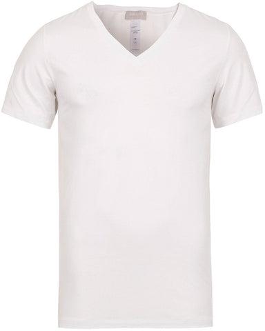 HANRO Cotton Superior V-Neck T-Shirt White