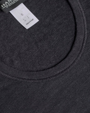 Hanro Long Sleeve Wool/Silk Tee Antracite