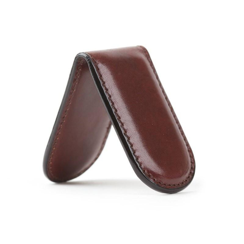 Dark Brown Old Leather Classic Magnetic Money Clip,MONEY CLIP,GentRow.com, | GentRow.com