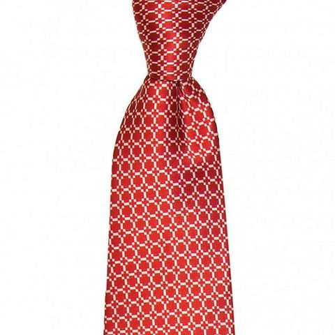 CLASSIC ALL OVER DESIGN PRINTED SILK TIE 8CM