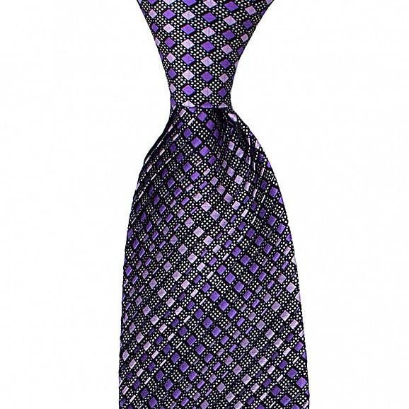 FULL PLEAT MICRO DESIGN SILK TIE 8,5CM