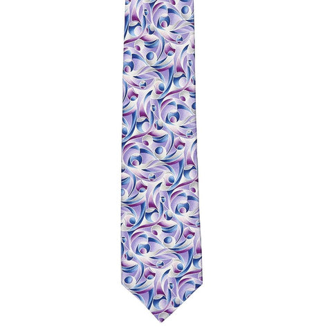 Printed Abstract Silk Tie