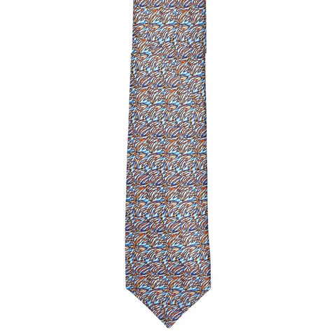 Printed Art Abstract Silk Tie