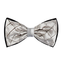 Square Pleat Pre-Tied Bow Tie,ACCESSORIES / FORMAL,SILVIO FIORELLO, | GentRow.com