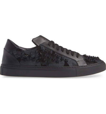 Black Camouflage Studded Star Sneaker 2828-CGST