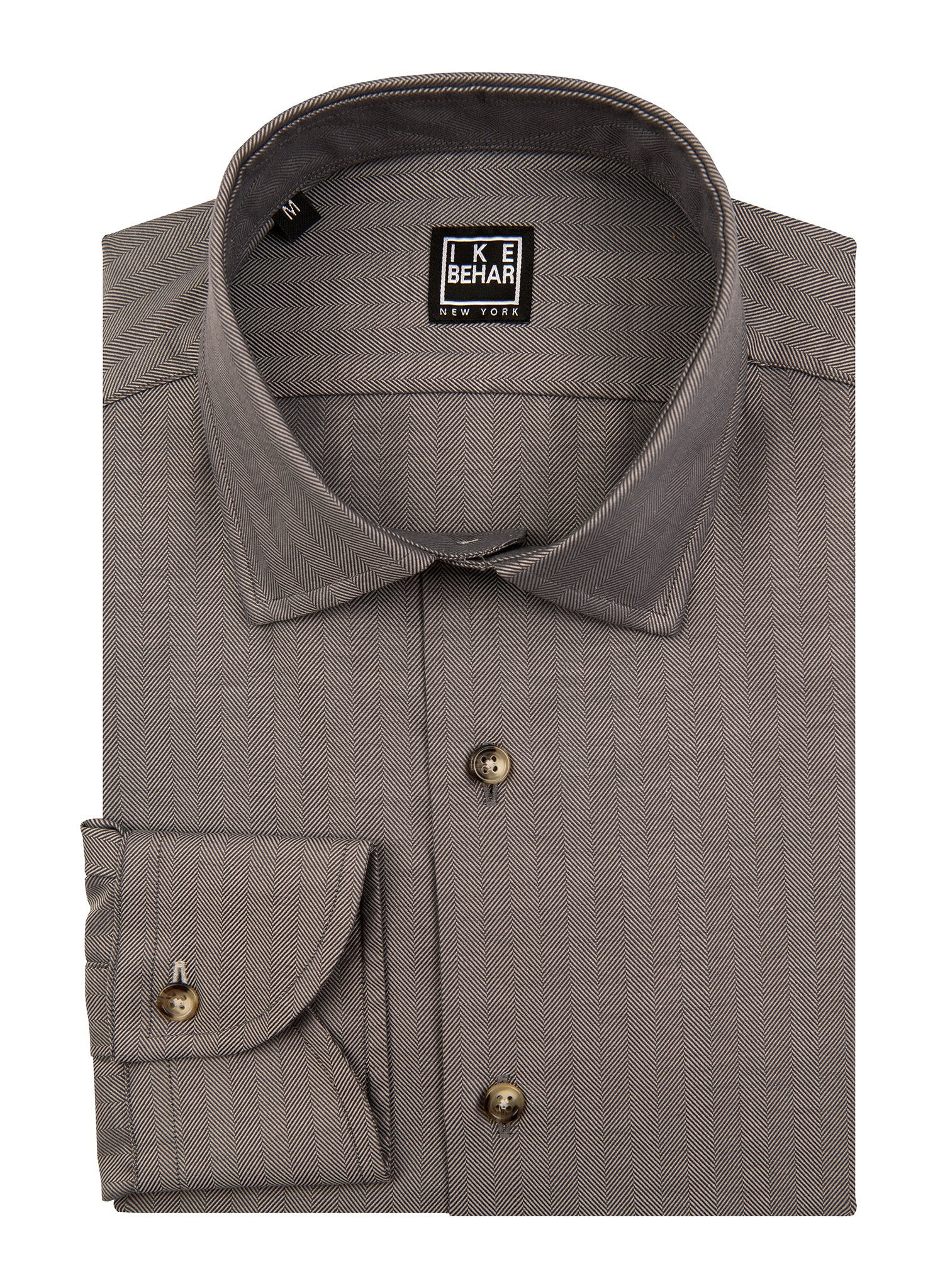 Charcoal Vertical Chevron Sport Shirt