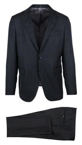 Charcoal with Blue Glen Plaid Suit