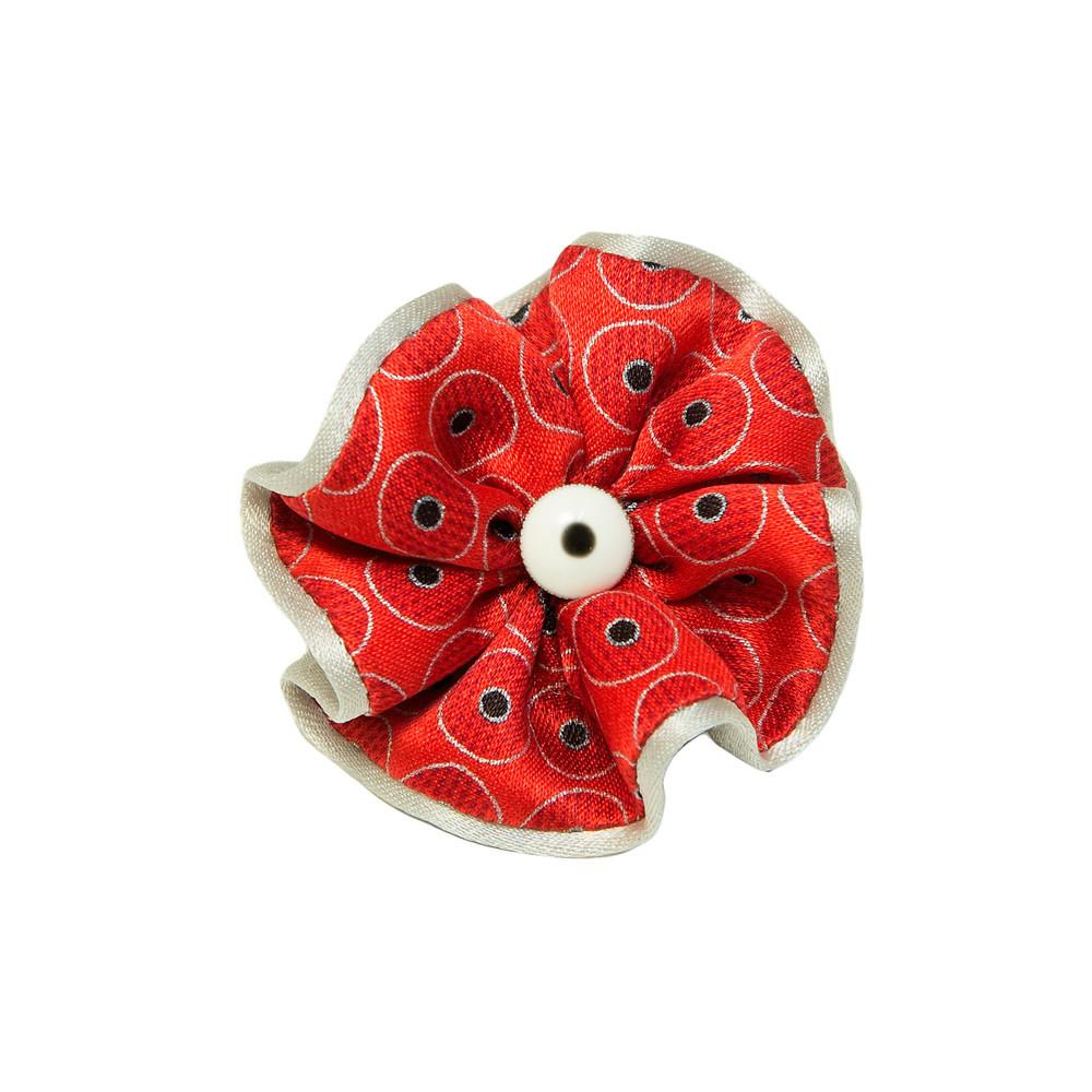 Silk Boutonnière with Hand Painted Pin,Boutonniere,SILVIO FIORELLO, | GentRow.com