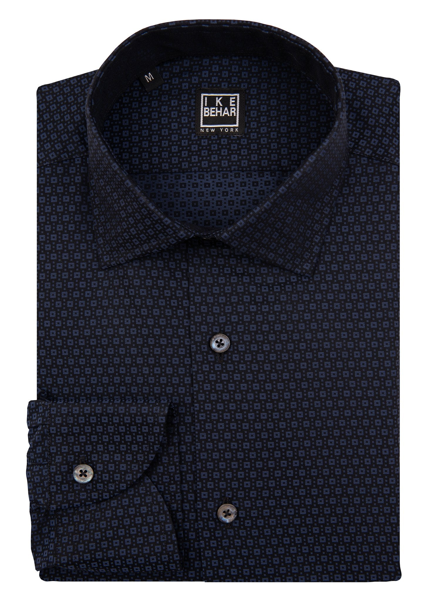 Midnight Geometric Pattern Sport Shirt