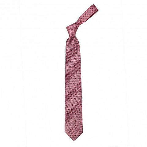 EIGHT PLEAT HAND PRINTED MICRO SILK TIE 8,5CM