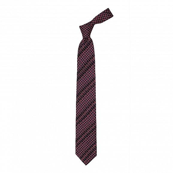 EIGHT PLEAT CLASSIC HAND PRINTED SILK TIE 8,5CM,TIE,SILVIO FIORELLO, | GentRow.com