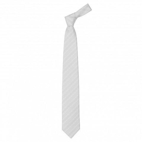 HAND PRINTED DOUBLE SATIN RICH STRIPES SILK TIE 8CM